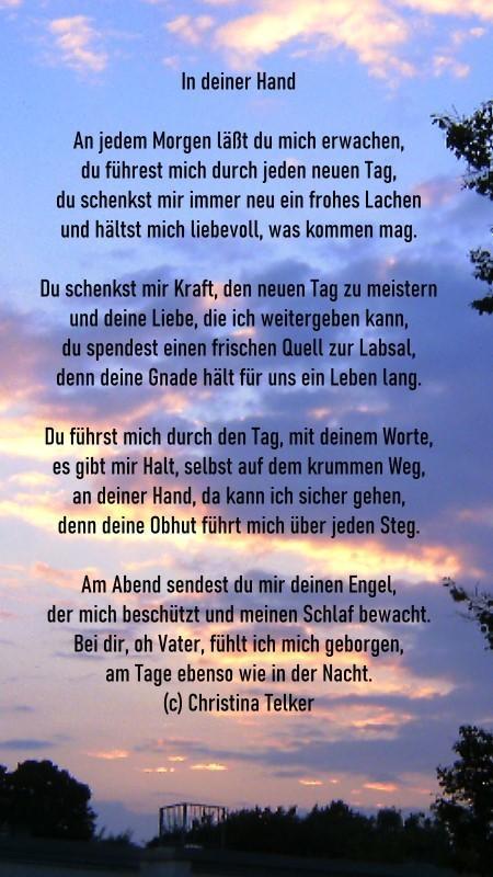 Hand leben gedicht in hand durchs Sterndal Verlag